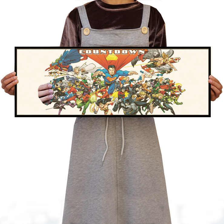 Superman Wonder Woman Batman bez ramki/zielona latarnia/papier pakowy/naklejki ścienne/plakat do kawiarni lub baru/plakat Retro/malarstwo dekoracyjne
