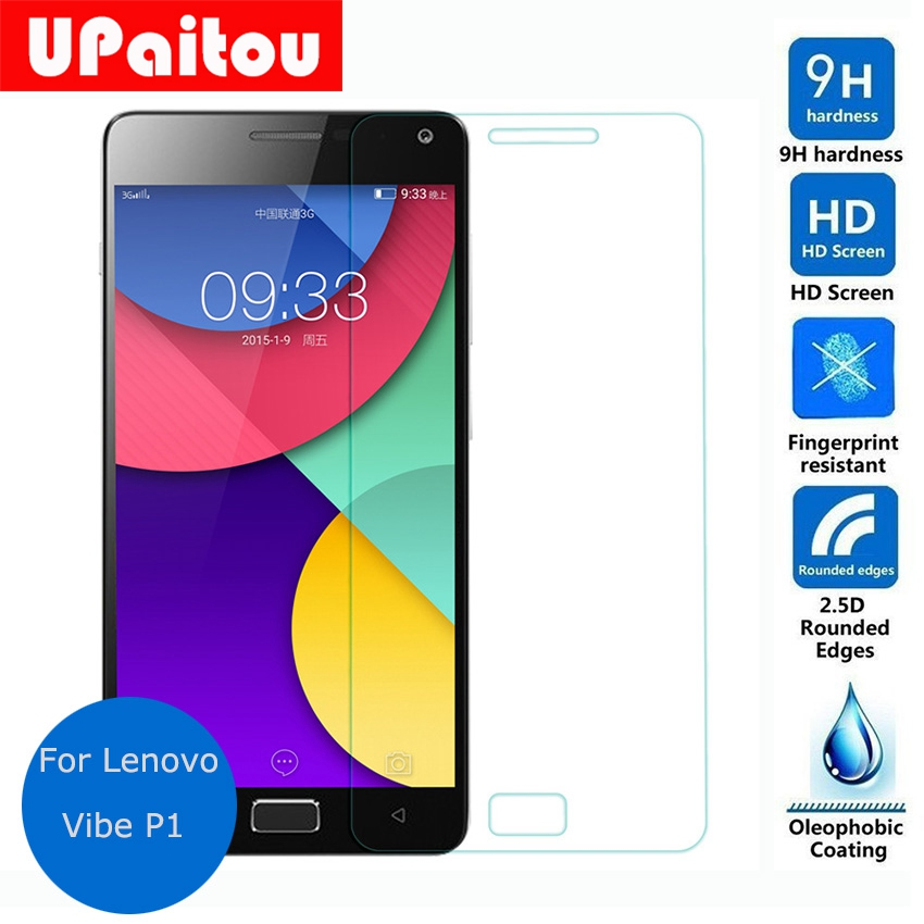 UPaitou Tempered Glass for Lenovo Vibe P1 Screen Protector Safety Protective Glass Film for P1a42 P1c72 P1c58 Dual Sim Lte