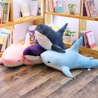 98cm Plush Stuffed Big Shark Toys Cute Kids Doll Children Sleeping Pillow Blanket Girls Animal Cushion for Birthday Gifts