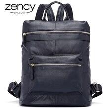 Zency Для женщин 100% Пояса из натуральной кожи рюкзак Soft Natrual коровьей модельер школы Дорожные сумки для подростка Обувь для девочек