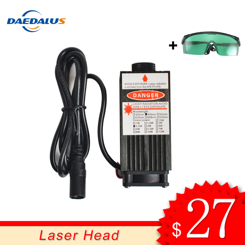 Daedalus CNC Engraving Laser Head 0 5W 405NM 2 5W 5 5W 445NM Laser Module Adjustable