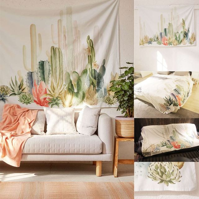 Wall Hanging Tapestry aliexpress : buy cotton cactus wall hanging tapestry bohemian