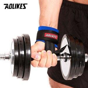 Спортивный Браслет AOLIKES, 2 шт./лот, для спортзала, фитнеса, гантели, для тренировок, запястья, с ручными лентами, горизонтальный бар
