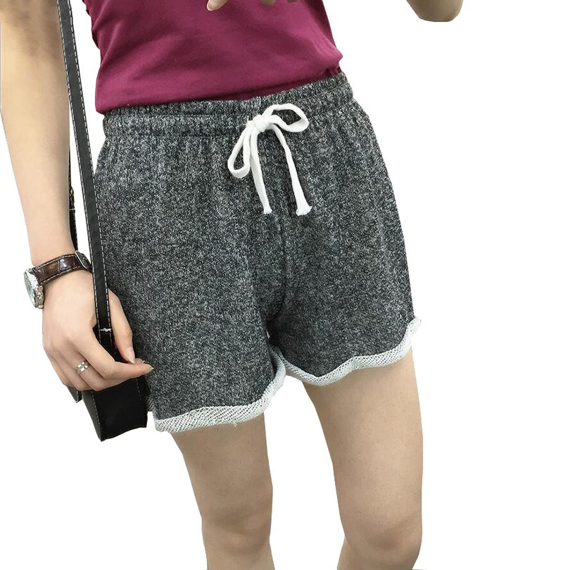 2020 Exercise Casual Loose Summer Shorts For Women Thin Quick-Drying Elastic Waist  With Belt Candy Colors Plus Size Shorts D050
