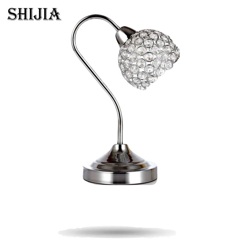 Dimmer Modern K9 Crystal Table Lamp Home Office Bedroom Lampshade Decoration Luminaire E14 110-240V modern k9 crystal table lamp home office bedroom lampshade decoration luminaire e14 110 240v