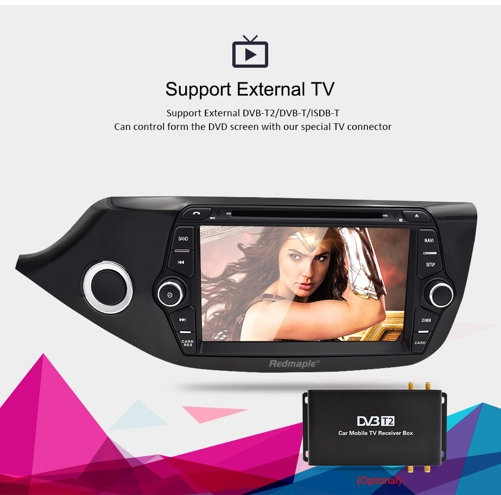 Image 3 - Android 8.0 9.0 Car Multimedia DVD Player for Kia Ceed 2013 2014 2015 2 Din Touch Screen Radio Stereo Video WiFI GPS Navigation-in Car Multimedia Player from Automobiles & Motorcycles