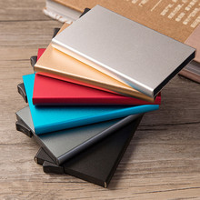 Slim Business Card Holder Card  Metal High-Grade Alumina Solid Color Automatic Pop-Up Anti-Theft Bank Card Box Minimalist Wallet