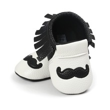 black white pu leather baby moccasins hot moccs Soft Bottom Non-slip Fashion Tassels girls boys shoes for baby age 0~18month