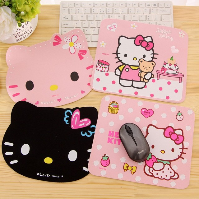 db3fc3129 Cute Hello Kitty Mouse Pad Keyboard Pad Laptop Computer Mouse Pad Kawaii Kitty  Mousepad Tapete De