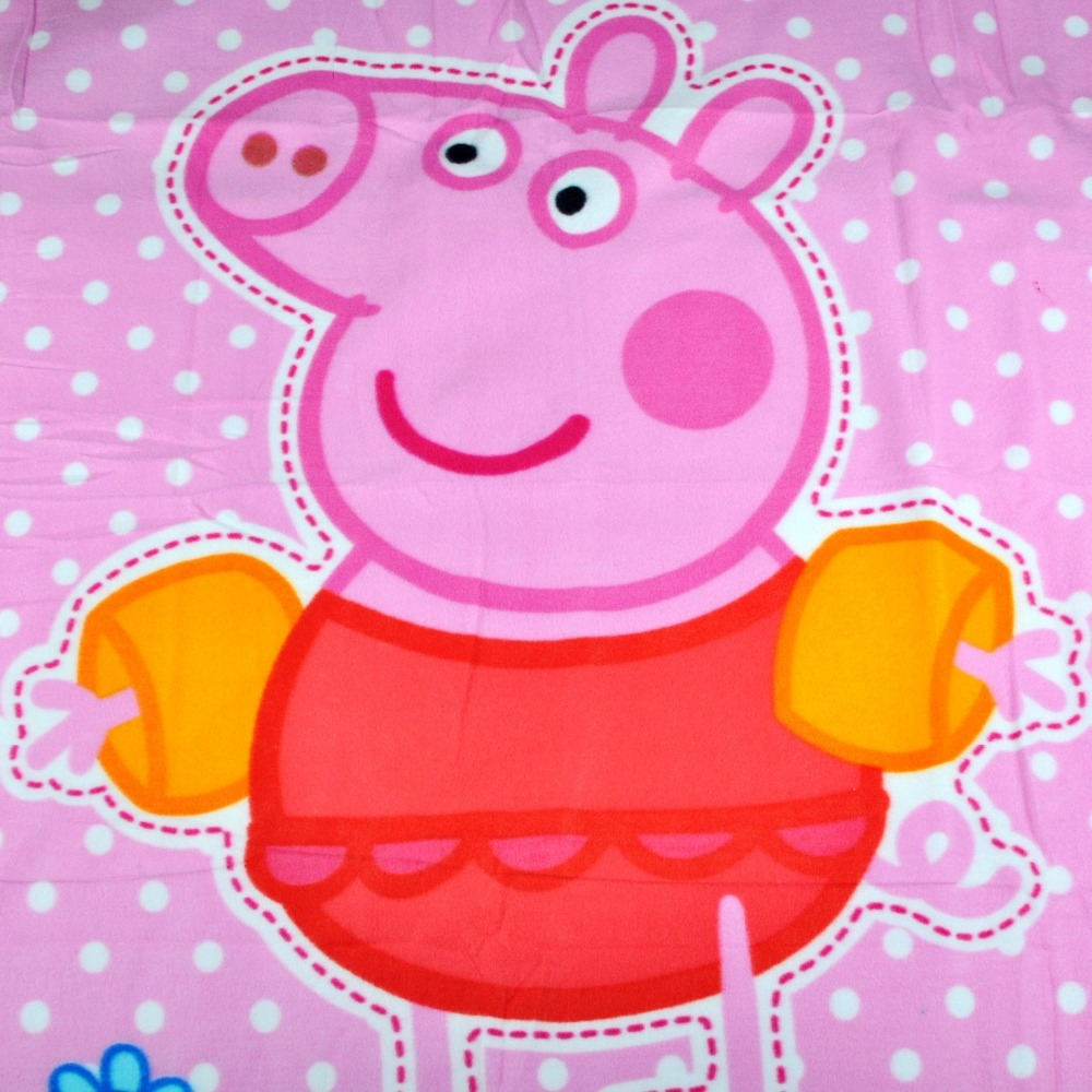 New 2015 Children Blankets Kids Bedding Blanket Cartoon Pink Peppa Pig  Picnic Cover Baby Girl Travel Rug Fleece Blanket-in Blankets from Home &  Garden on ...