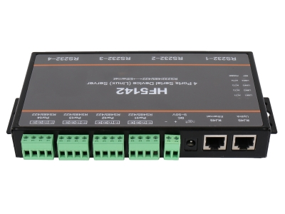 HF5142 4 Ports Serial Device Server Ethernet Conventer RS232/RS485/RS422  Multiport Serial Server F22499 hightek hk 8116b industrial 16 ports rs485 422 to ethernet converter ethernet to serial device server