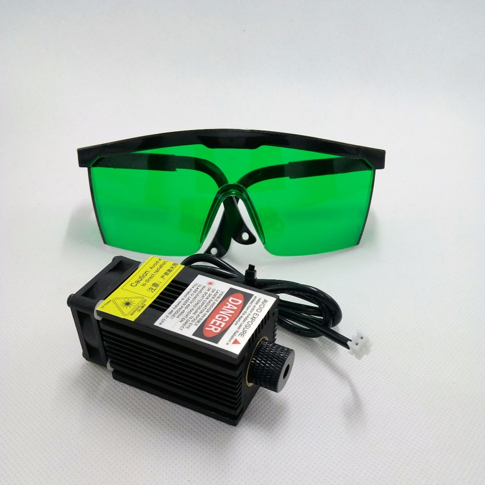 High quality 2500mw 445NM focusing blue purple laser module 2.5w laser tube Laser module diode hx2.54 2p port+protective googles