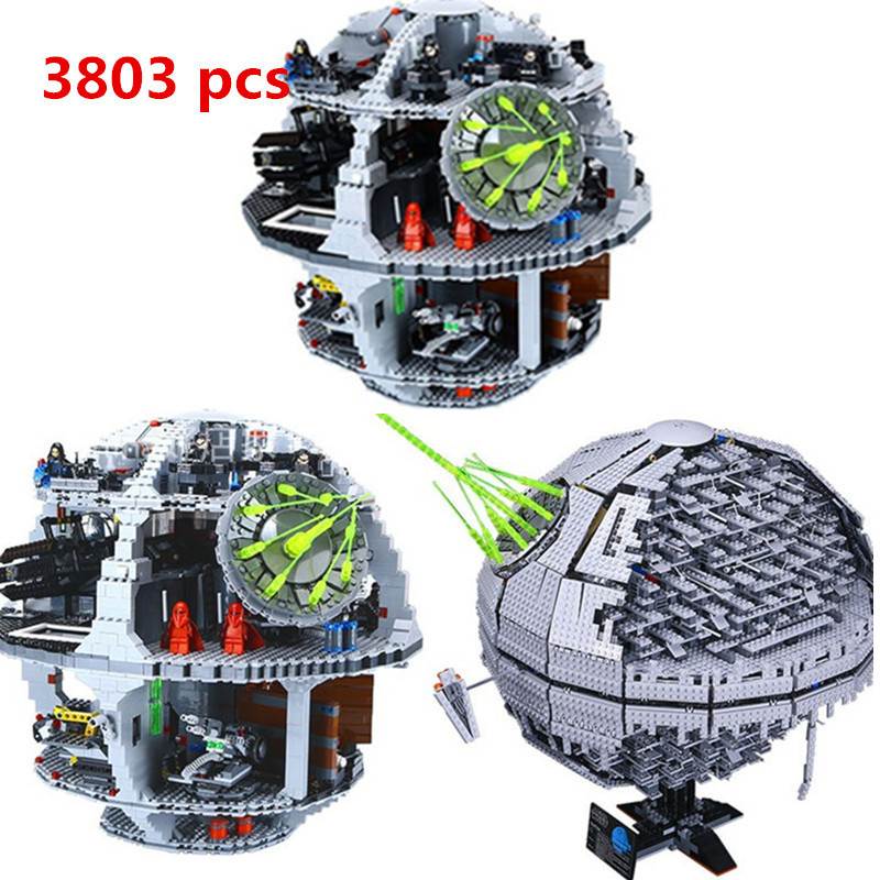 New Lepin 05035 Star Set Wars Death 3804pcs Building Block Bricks Toys Kits Compatible LegoINGly With 10188 Children Educational bela 10464 star wars death star final duel bricks building block compatible with lepin