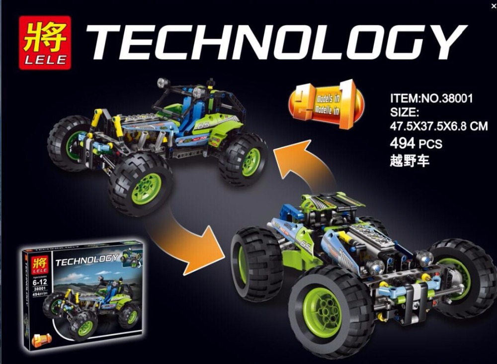 38001 Technic City Series Formula Off-Roader Car Building Blocks Bricks Model Kids Toys Marvel Figure Compatible Lepin - Yiwu Fente E Commerce Co Store store