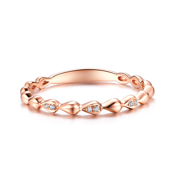 Solid 14k Rose Gold Natural Diamonds Engagement Ring Women Wedding Band Trendy Anniversary Party Valentine Gift Fine Jewelry 2