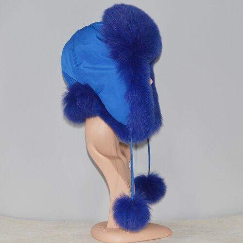 Women Real Fox Fur Hats...