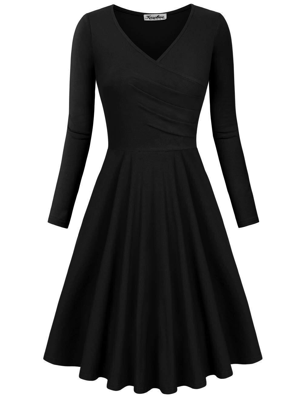 2018 spring and autumn elegant a line v neck long sleeve print woman dresseshot chic vintage elegant slim print female dresses in Dresses from Women 39 s Clothing