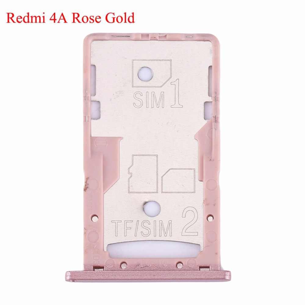 Baru SIM Kartu Tray Socket Dudukan Slot Adapter Penggantian Suku Cadang untuk Xiaomi Redmi 4A/4X SIM SIM /TF Kartu Tray Adapter