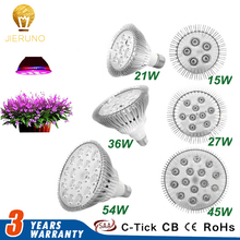 54W 45W 36W 27W 21W E27 LED Grow Light Full Spectrum LED Bulb Plant Growing Lamp Hydroponic Garden Greenhouse Phrase grow BE
