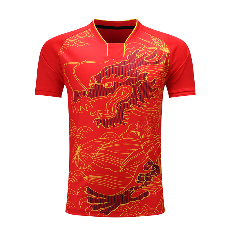 Shirt Table-Tennis Dragon-Team Pingpong Quick-Dry Men/women CHINA Trainning