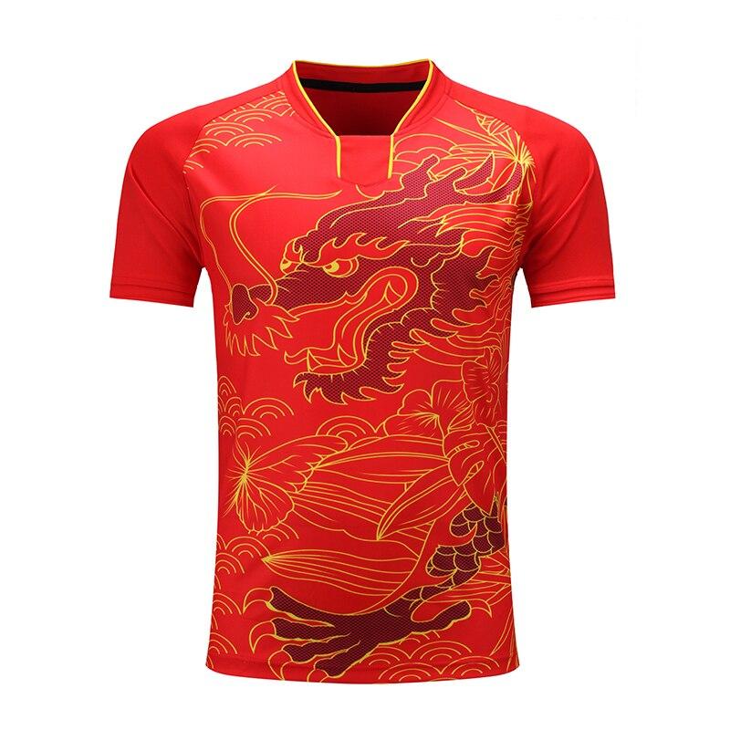 Free Printing CHINA Dragon Team table tennis shirt Men / Women, pingpong sports shirt , Quick Dry table tennis Trainning Shirts