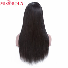 Miss Rola Hair 13*4 Human Hair Lace Wigs with for 180% Density Straight Brazilian Remy Hair Nature Color Can do other Style