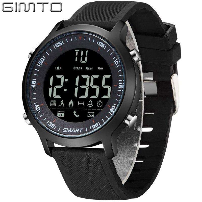 GIMTO Digital Sport Smart Watch Men Clock Fashion Military Male LED Waterproof Stopwatch Man Shock electronic wrist watches