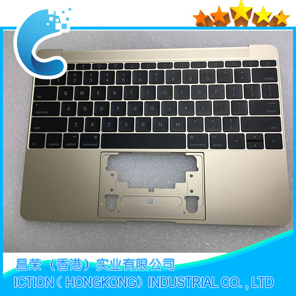 Original 2015 For Macbook Pro Retina 12 A1534 Topcase With US Keyboard Upper Top Case Palmrest US Layout 2015 Years Gold Color original new laptop a1708 palm rest repair for macbook retina pro top housing case cover us layout 13 inch 2016 year replacement