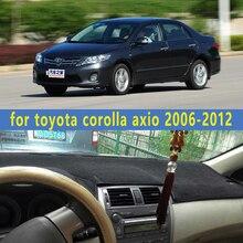 Dashmats car-styling accesorios cubierta del tablero de instrumentos para toyota corolla axio e140 e150 2006 2007 2008 2009 2010 2011 2012
