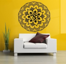 Yoga Wall Decals Indiana Mandala Ornament Stickers Vinyl Om  Meditation Mural Home CW-78