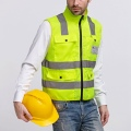 Reflective Strips Vest Visibility Warning Safety Traffic Comfy Clothes Fluorescent Vest Security Equipment Night Work