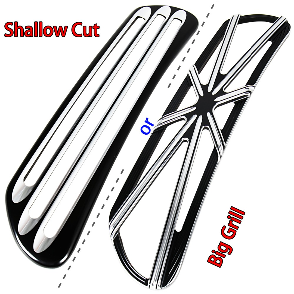 Shallow Cut Big Grill Fairing Scoop Intake Trim Accent For Harley Touring Electra Street Glide FLH