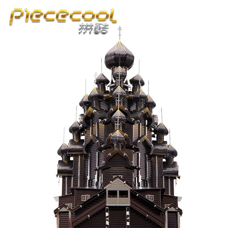 Russia Kizhi Church Of The Transfigu Building DIY Laser Cutting Jigsaw Puzzle Model Piececool 3D Nano Puzzle Toys For Adult Gift