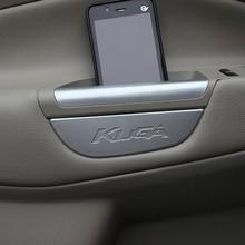 Для Ford Kuga Escape 2013-, ограниченная акция, коробка для хранения передней двери, подлокотника, крышка бака, наклейка, чехол, аксессуары, 4 шт