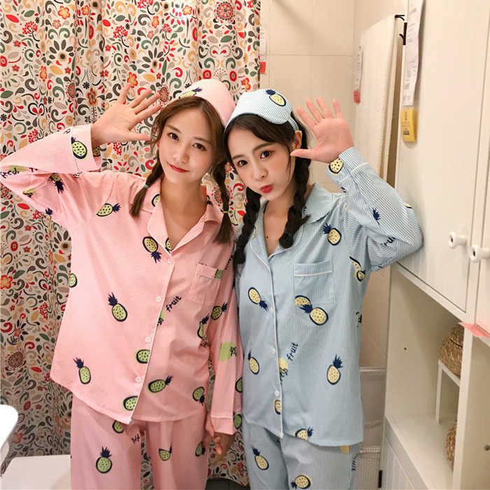 ... 2018 Japanese Autumn Women Sleep Pajamas Cute Leisure Home Wear Female  Kawaii Bear Rabbit Kawaii Long ... d403ce20d