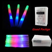 30 יח\חבילה צבעוני קצף מקל חתונה LED מסיבת ניאון זוהר ראלי רווה לעודד זוהר שרביט שרביטים אור למעלה זוהר מקל פסטיבל