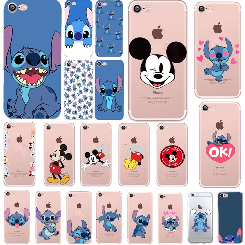 Silicone Case for iPhone 6 6S 5s SE Cartoon Stitch Case For iPhone 7 8 Plus Coque Capinha For iPhone XS X Capa Soft Cover Back