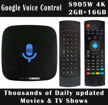 1~5pcs Voice Control S905W/H3 Quad core 2GB/16GB 4K Smart Android 7.1 TV Box 1GB/8GB Thousands Daily Updated Movies & TV Shows цена и фото