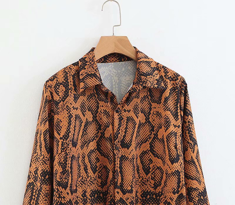 6c66492eba69dd NEW 2018 Autumn Women's Leopard Print Long Coat Frenulum Kimono Cardigan  Casual Snake Skin Blouse Shirt Long Sleeve Tops Tunic-in Blouses & Shirts  from ...