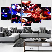 Home Decoration Hd Prints Poster Pictures Animation Lufei Wall Artwork Modular Modern Canvas Paintings For Living Room Framed(China)