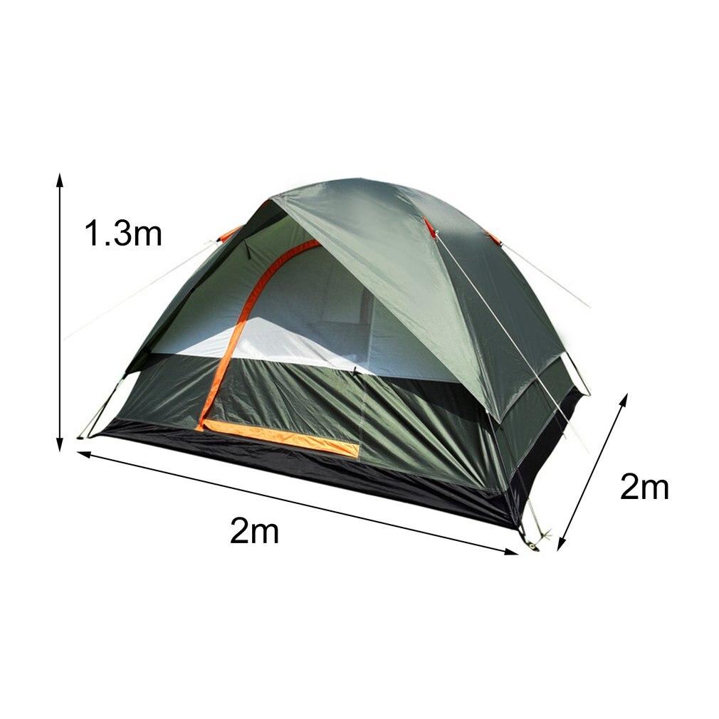 3-4 personne Coupe-Vent Tente de Camping Double Couche Imperméable Ouvert Anti-uv Touristique Tentes Pour La Randonnée En Plein Air Plage Voyage Tienda - 6