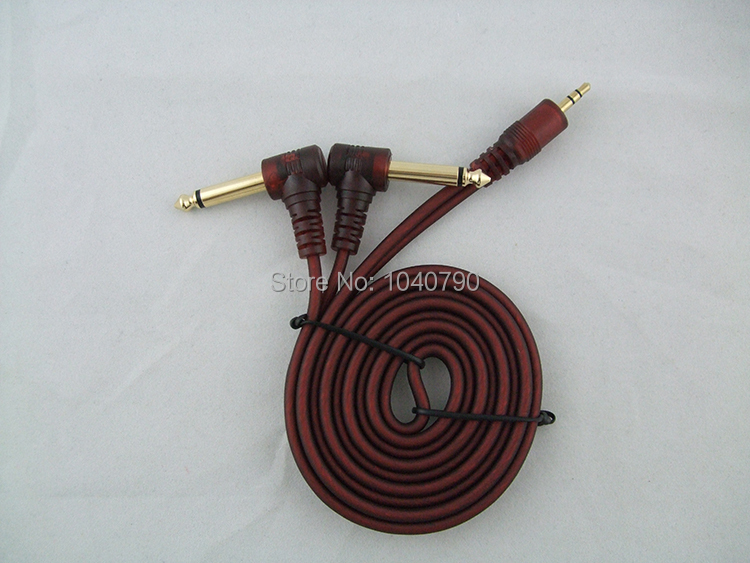 3.5 to two 6.3 6.35 6.5 Bend lines to audio computer mixer Audio signal lines cable 1.5M 4.8ft