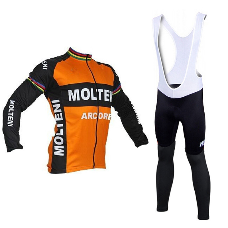 Molteni cycling jersey long sleeve sportwear Autumn Pro Mtb Long Sleeves  Cycling jersey Clothing clothes Bike orange black f3192b13f