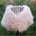The new 2016 wedding ostrich feather shawl bridal shawl  fur shawl vest coat