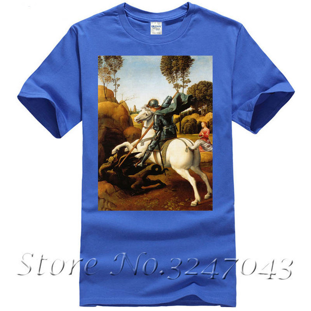 St. George and the Dragon Cotton High Quality Men T-shirt