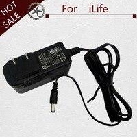 1 pcs UE ficha adaptador de carregamento para o iLIfe X660 X661 A7 X787 V5 V5S V5S pro x620 Poder aspirador De pó adaptador de carregador de substituições