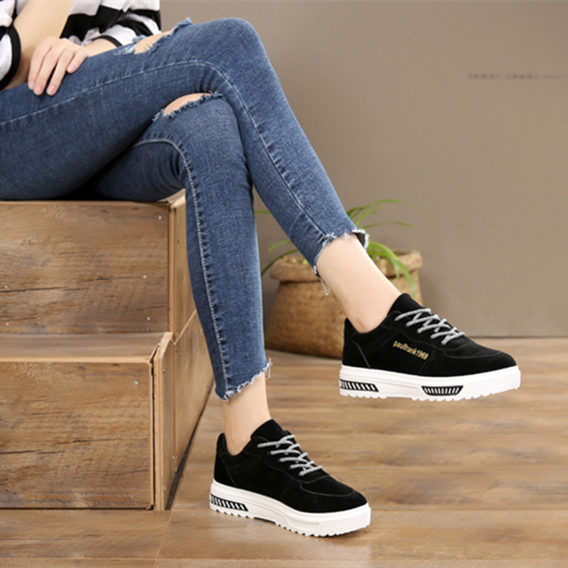 Women Skateboarding Shoes Canvas brand sport sneakers Outdoor Athletic Girls woman walking tennis height Increasing boots