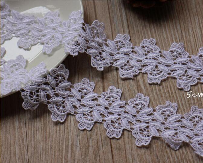 Home & Garden 10 Meters/lot 5cm Width Novelty Diy Lace Fabric..white Water Soluble Hollow Out Lace /clothing Materials Lace Diy Accessories