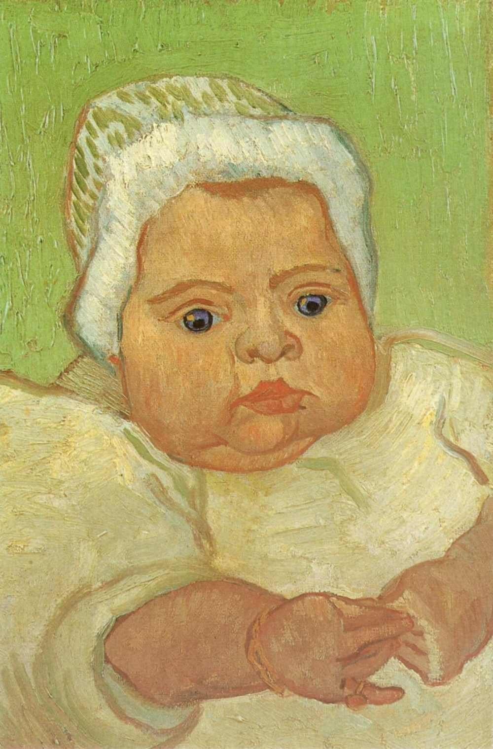 """vincent van gogh schilderen"""" de baby Marcelle roulin"""