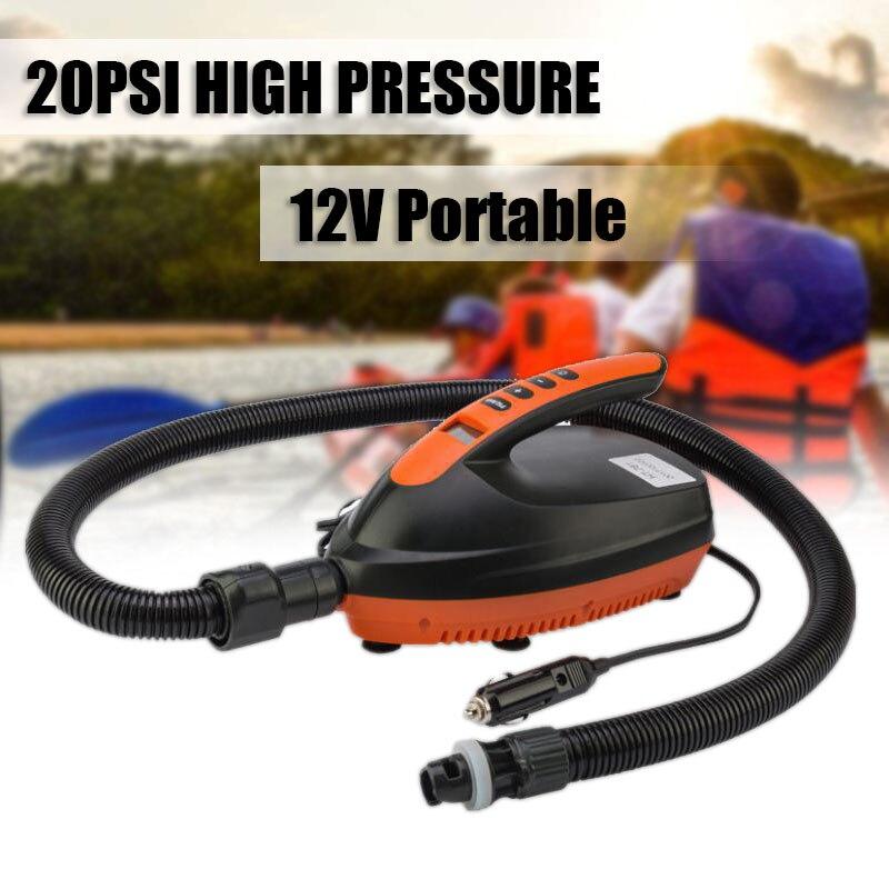 12V 20PS Portable Car Inflatable Pump High Pressure Portable Digital Electric Air Pump SUP Kayak Paddle